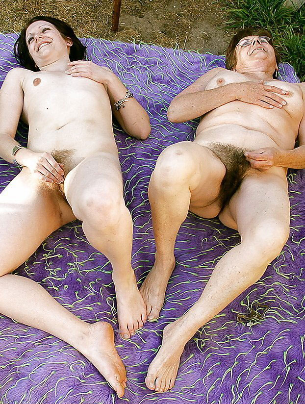 Mother and son having sex outdoors